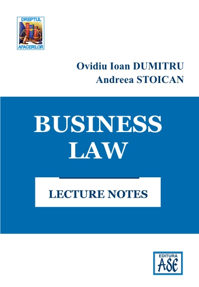 Business Law. Lecture notes (Dreptul afacerilor. Note de curs)